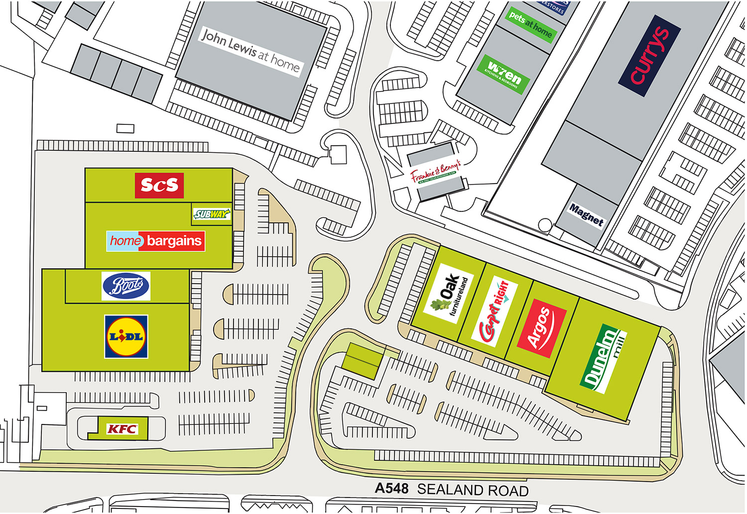 Find your favourite store at Greyhound Retail Park