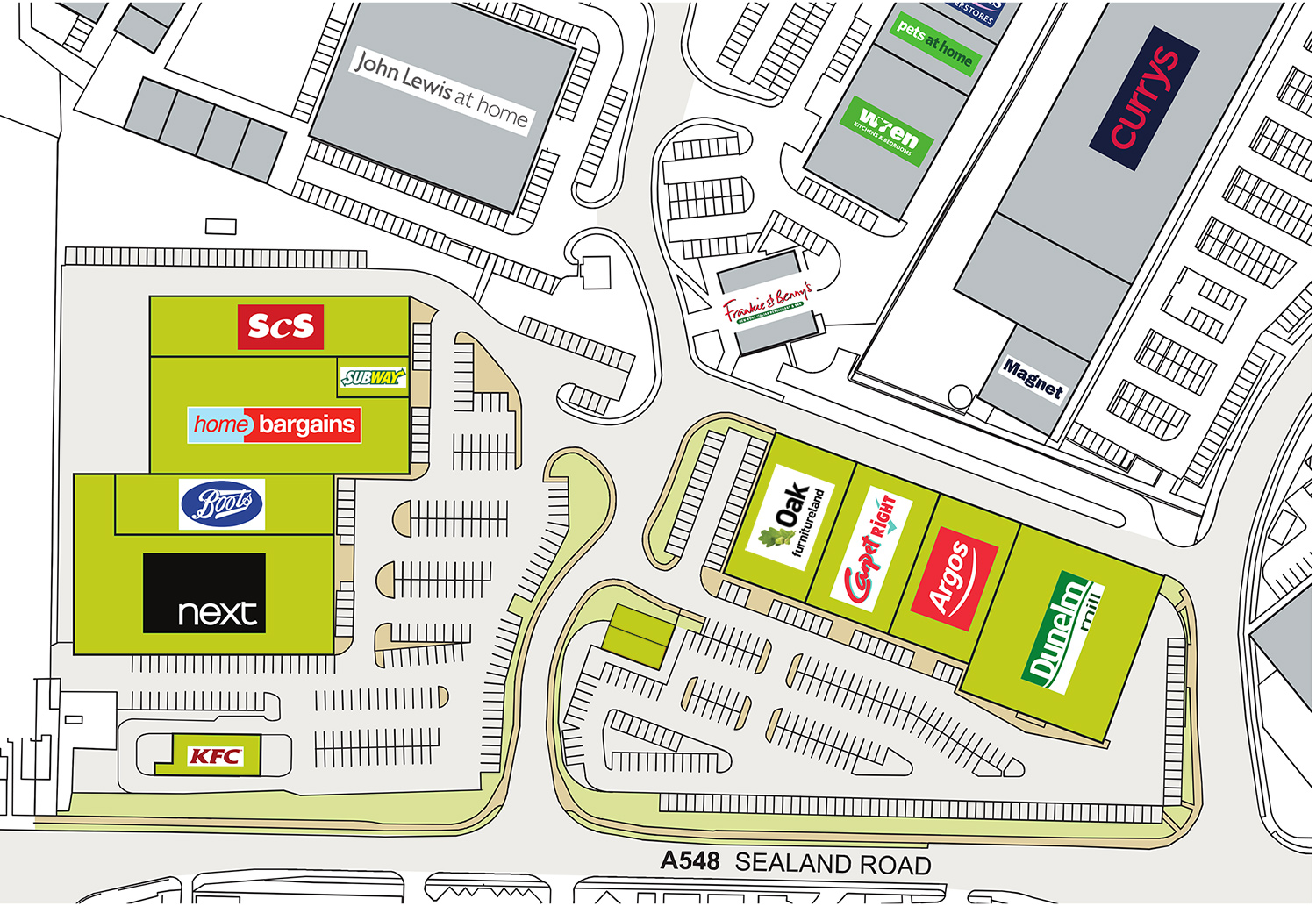 Greyhound Retail Park Chester Map Shopping Chester